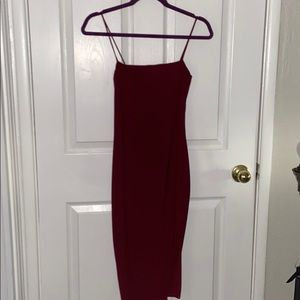 Fashion Nova high side slit bodycon dress